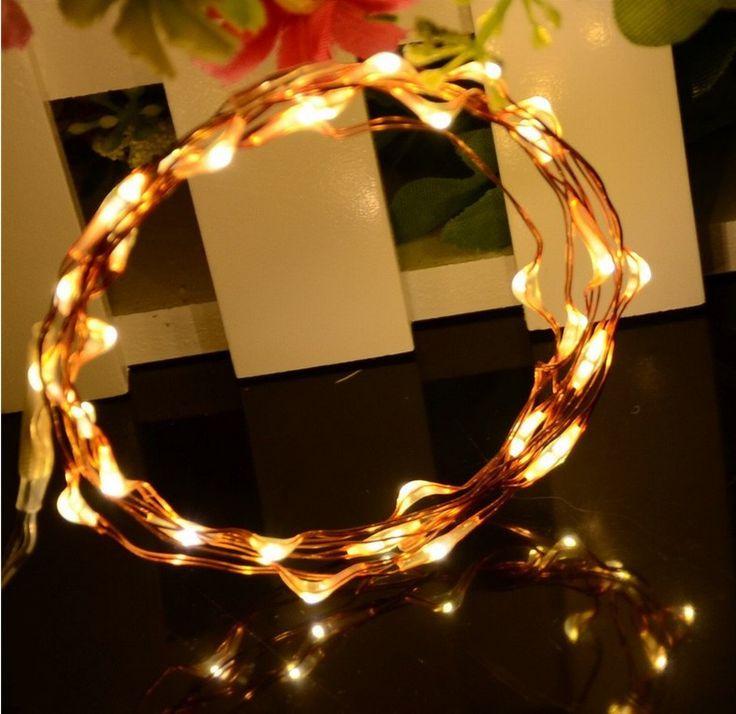 3 шт./компл. Медь провода LED 20 гирляндой Батарея воздействовала на 3.3ft длинные строки для свадьбы для рождественской вечеринки украшения купить на AliExpress