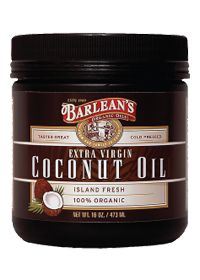 Barlean's Extra Virgin Coconut Oil by Barlean's Organic Oils.  EXCELLENT for your hair, skin (especially dry skin) & GREAT for cooking too!!!!!!!  It smells AWESOME too.......LOVE!!!!!!!