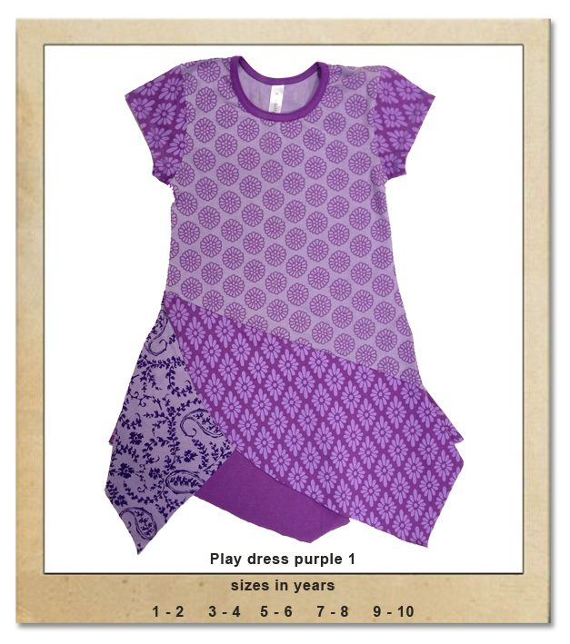 Sillybilly© clothing:  Play dress purple 1
