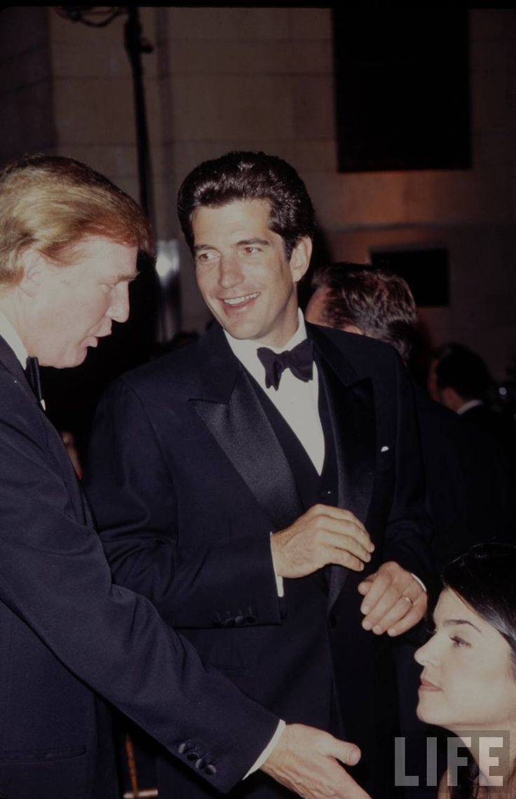 John F Kennedy Jr And Donald Trump 1998 John Kennedy