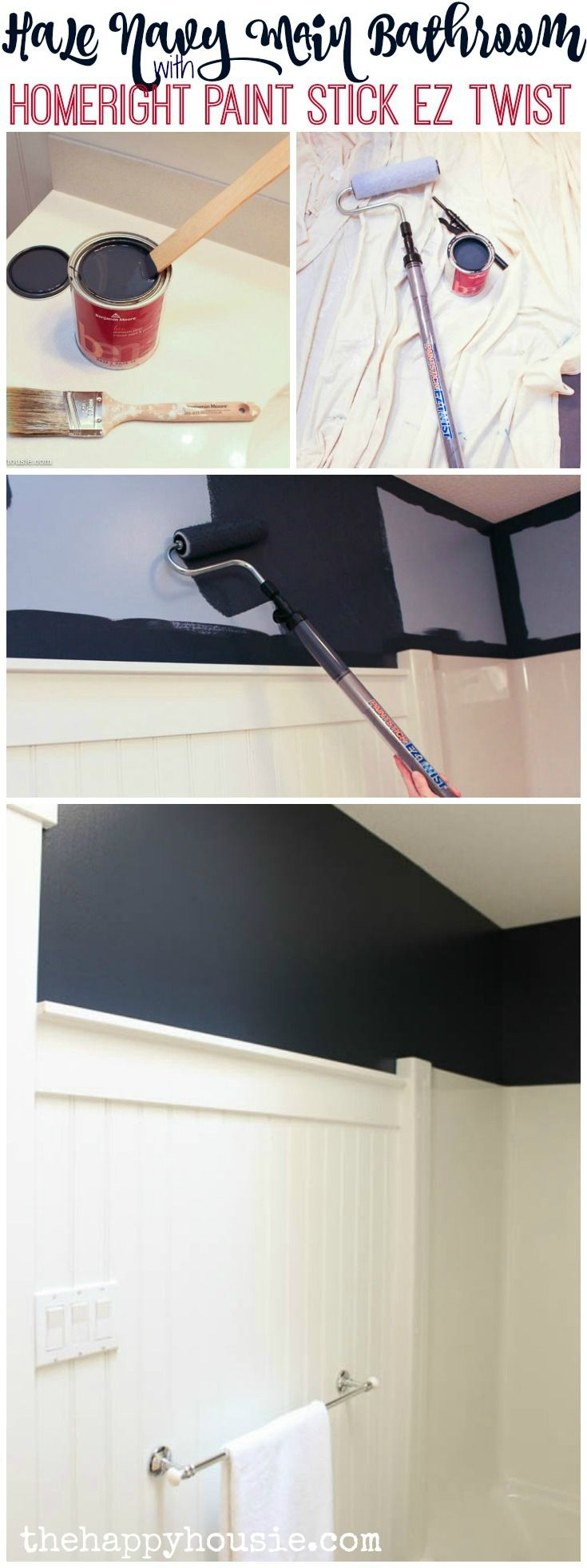 We transformed our main bathroom in no time at all with the HomeRight Paint Stick EZ Twist