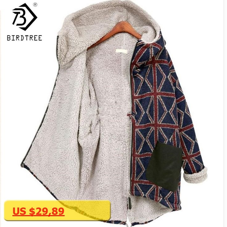 Velvet Fleece Plaid Women 2017 New Winter Spring Casual Sweatshirts Loose Thickening Hooded Zip-Up Navy Female Coats Hot C79505A