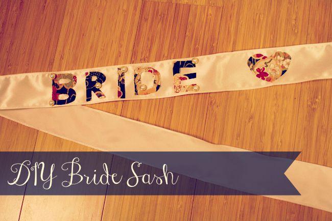 DIY Vintage Bridal Sash for a Bachelorette/Stagette/Hen Party