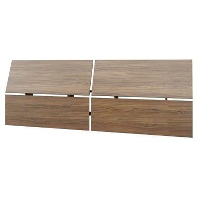 Alibi Bed and Headboard Walnut (Brown) (Queen) - Nexera