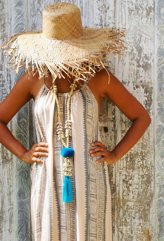 Pompom necklaces/Shells necklaces/Bohemian necklaces/Beach
