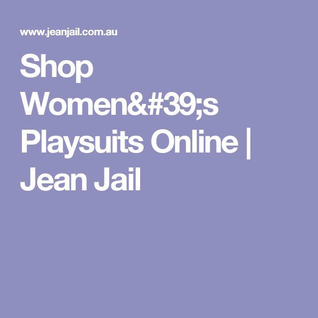 Shop Women's Playsuits  Online   Jean Jail