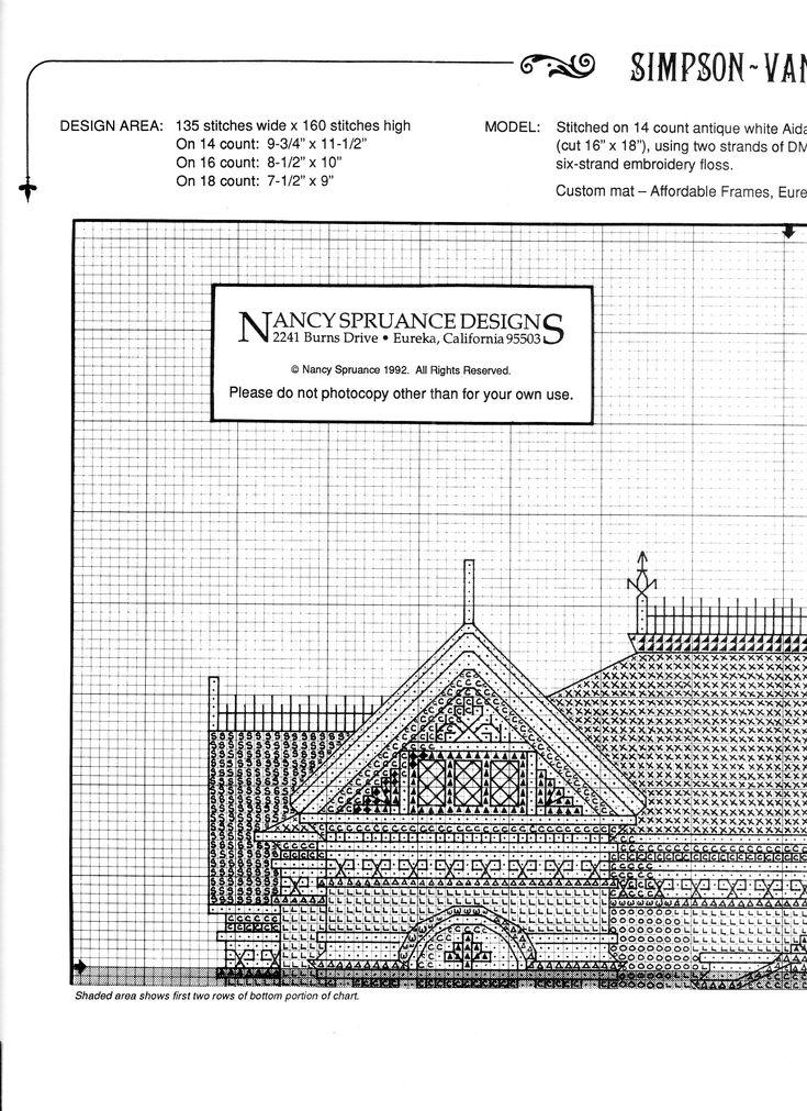 Schema punto croce Simpson Vance House 04