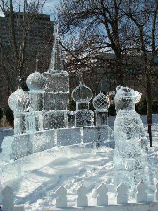 ice art ottawa canada #icebreakersduo #maplevoxbox
