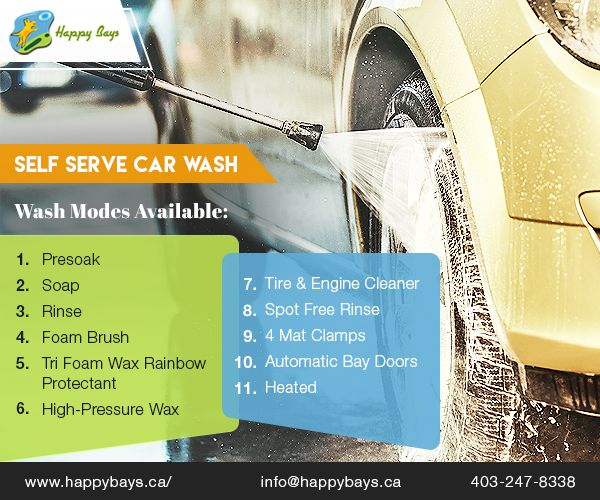 Happy Bays' coin operated self serve car wash is known for its high-quality chemicals & updated equipments.