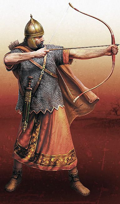"""""""Roman archer"""", Nicholas Subkov Oddly this doesn't look Roman to me, possibly very early Roman?"""
