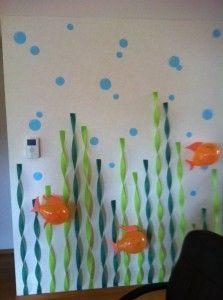 Crepe paper streamer seaweed #submergedvbs