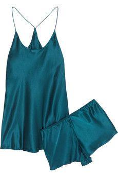 Olivia von Halle Bella silk-satin pajama set | NET-A-PORTER @gtl_clothing #getthelook http://gtl.clothing