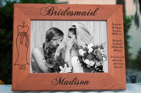 "6 Custom Frames - Personalized Bridesmaid Gift - Custom Engraved 5""x7"" Photo Frame - Maid of Honor & Flower Girl - Urban Farmhouse Tampa on Etsy, $102.00"