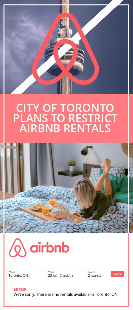 The City of Toronto announces plans to restrict short-term rentals to primary residence of the host, calling for a crack down on Airbnb style websites.  Get out of our free market! #realestatenews