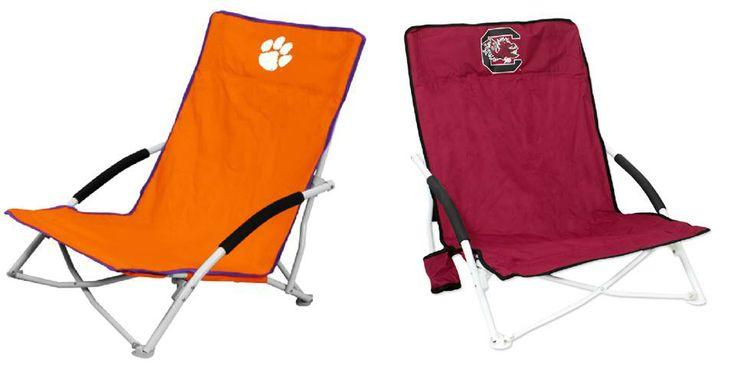 Clemson And Carolina Beach Chairs Ncaa Favorites Beach