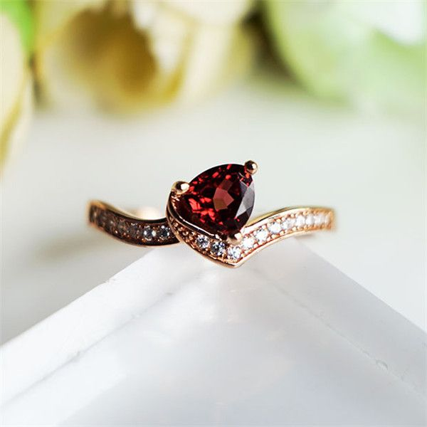 You Are My Sweetheart January Birthstone Garnet Promise Ring for Her
