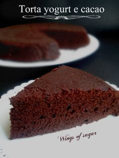 Torta soffice yogurt e cacao ricetta golosa - wings of sugar blog