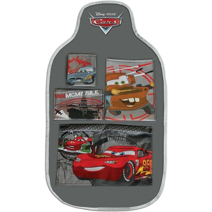 Organizator auto Cars Disney Eurasia Organizatorul auto Cars ajuta la pastrarea jucariilor in ordine si protejeaza scaunul masinii de murdarie si zgarieturi