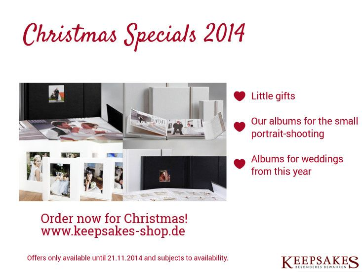 Our Christmas Specials are now available in our online shop!  www.keepsakes-shop.de