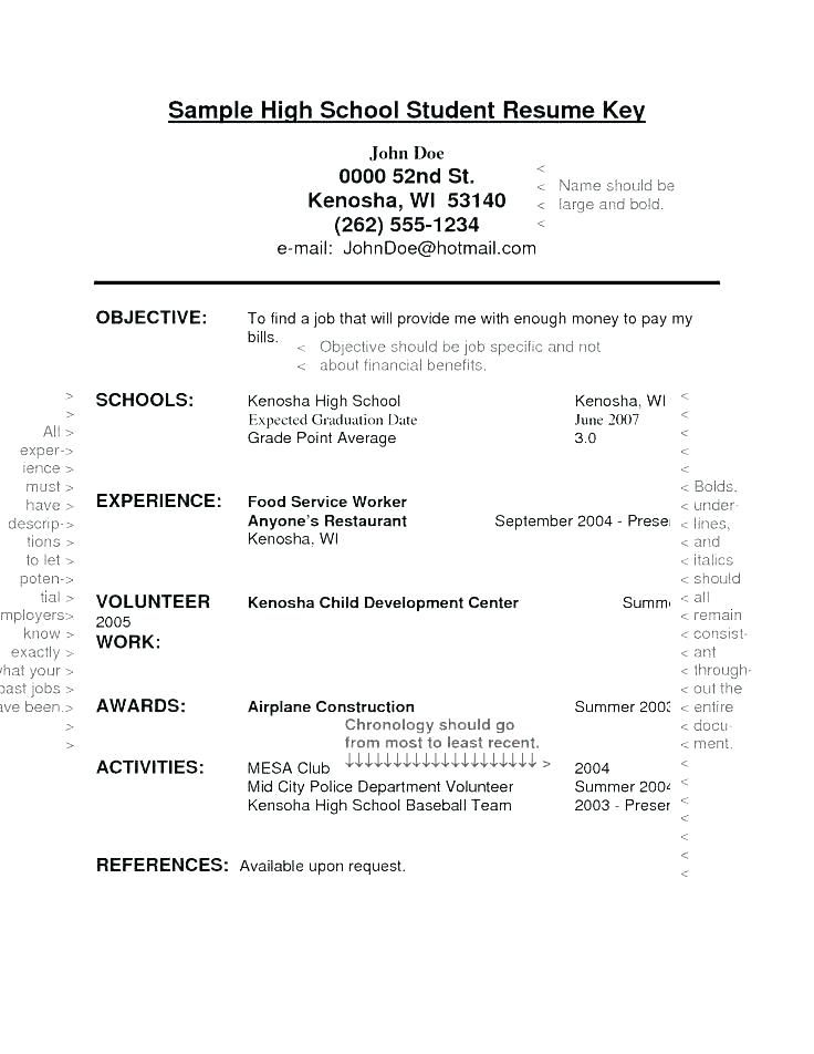 Student Cv Template No Experience Student Resume Template First Job Resume High School Resume