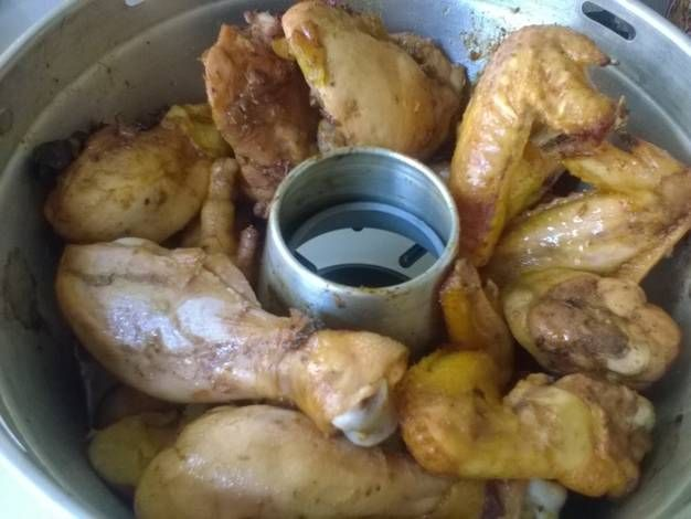 Pollo a la cerveza (Horno milagro-cacerola horno-horno mágico)