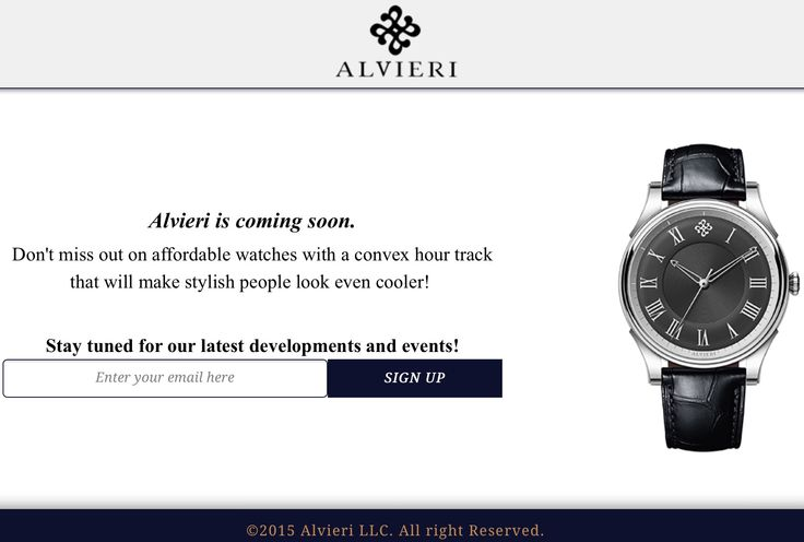 Subscribe to our email list for the latest developments and events!  http://alvieriwatches.com