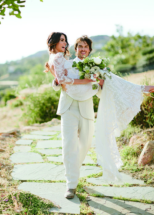 Nikki Reed and Ian Somerhalder are the cutest bride and groom | Brides.com