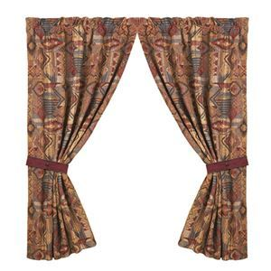 Delectably Yours Pair of Ruidoso Southwestern Curtains by HiEnd Accents #DelectablyYours Southwest Bed & Bath Decor