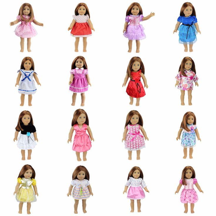 15 Renkler Amerikalı Kız Bebek Elbise 18 Inç Bebek Giysi Ve Aksesuarları Elbiseler