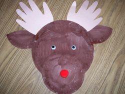 Reindeer Paper Plate Craft