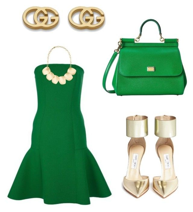 Untitled #12 by marce-castaneda on Polyvore featuring polyvore, fashion, style, Jimmy Choo, Dolce&Gabbana, Gucci, Kenneth Jay Lane and Lanvin