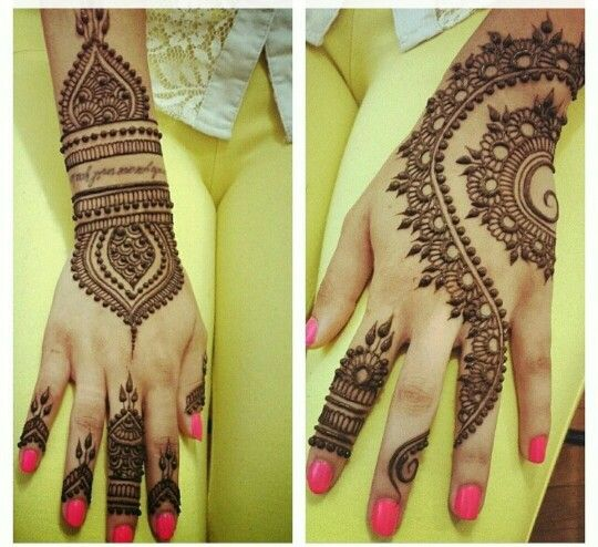 Arabic henna or mehndi designs