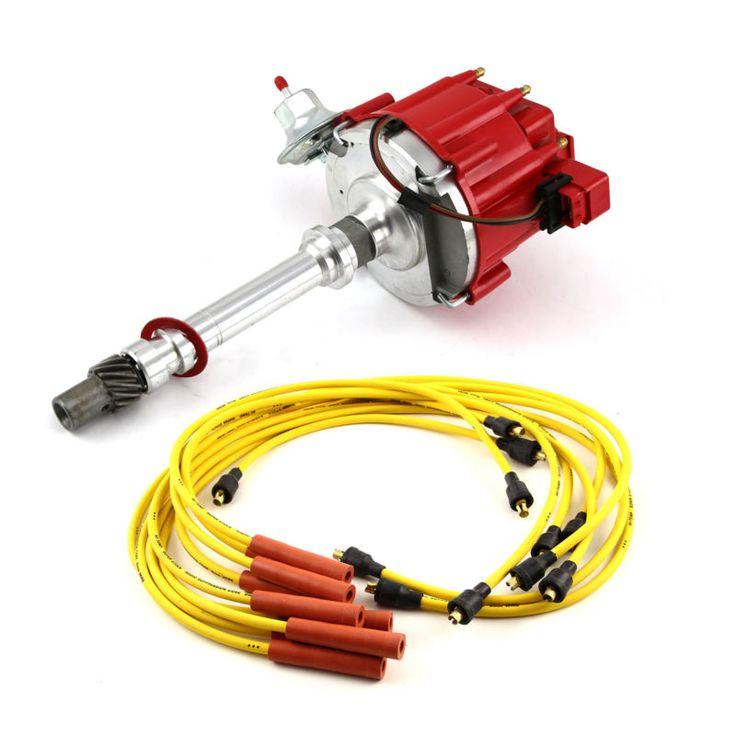Chevy SBC 350 BBC 454 HEI Distributor Accel Spark Plug