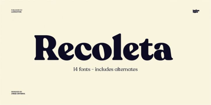 Recoleta Font Download - 2 subfamilies: Basic and Alt  Each