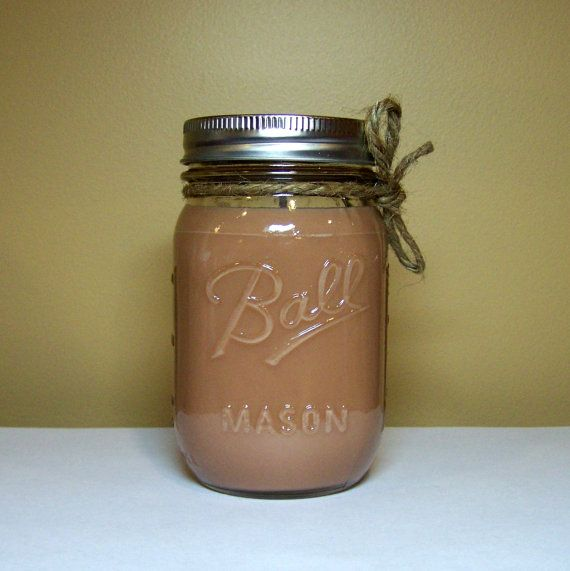 Nag Champa Scented Candle in Mason Jar Brown by StillWaterCandles, $16.00