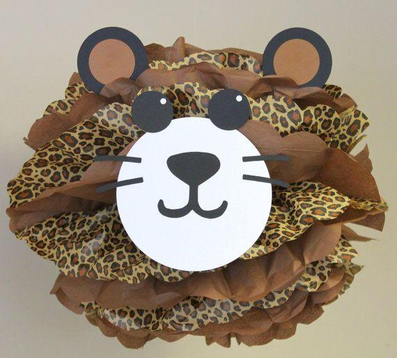 Leopard Cheetah pom pom kit jungle safari by TheLittlePartyShopNY