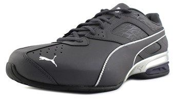 Puma Tazon 6 Fracture Men Round Toe Synthetic Gray Running Shoe.