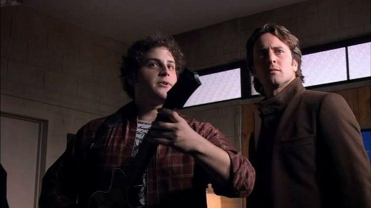 13 december 2013: Programma. Foto: David Blue (L) als ICT-geek-vampier Logan Griffen in  Moonlight (2007–2008) (met Alex O'Loughlin (R) als Mick St. John, vampier, prive detective)