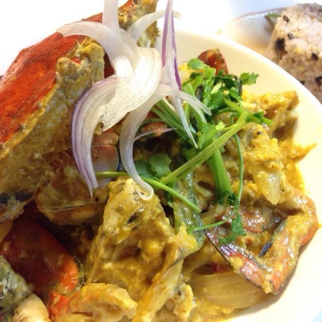 ワタリガニで タイのソンブーンの味らしい(家内談) タイカレー 卵も入れるのね - 73件のもぐもぐ - プーパッポンカレー by sasachanko