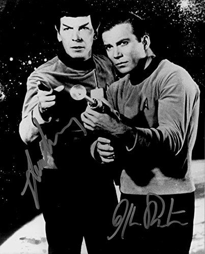 Star Trek William Shatner as Captain Kirk - Leonard Nimoy as Spock Signed Autographed 8 X 10 RP Phot @ niftywarehouse.com #NiftyWarehouse #StarTrek #Trekkie #Geek #Nerd #Products