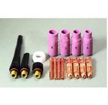 16PCS TIG Consumables Accessories  FIT TIG Welding Consumables PTA SR DB WP 17 18 26,  (TIG-89)M325
