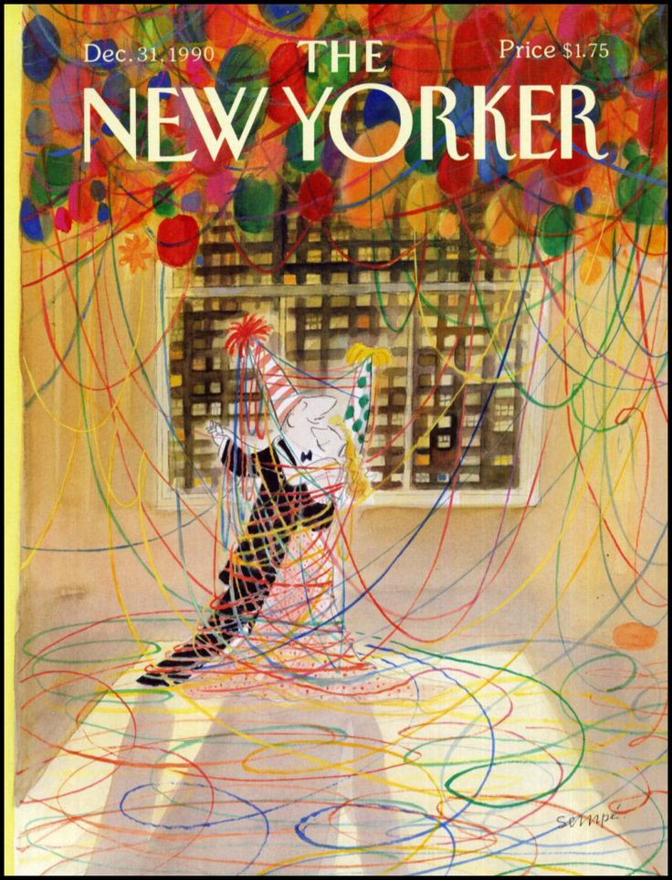 The New Yorker // Cover art by Jean-Jacques Sempé