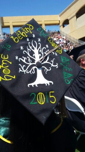 Incorporated Harry Potter, Game of Thrones, and Lord of the Rings on my graduation cap!