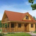Projekat. Drvena kuća sa terasom | KucaSnova.com