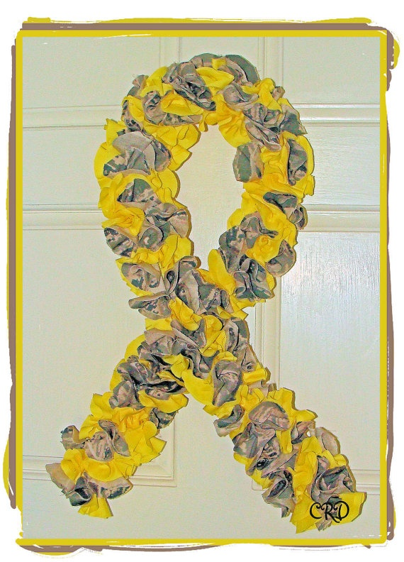 US Air Force Soldier Yellow Ribbon Door Wreath -- [Created and Designed by Tara Mitchell of Charlee Rose Designs - Powder Springs, Georgia - United States]'h4d'121130