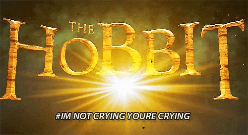 The Hobbit: The Battle of the Five Armies reaction/crying gif