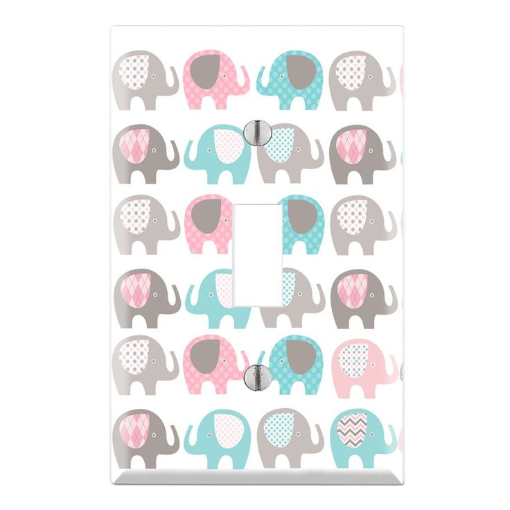 Decorative Elephant Nursery Wall Plate Cover