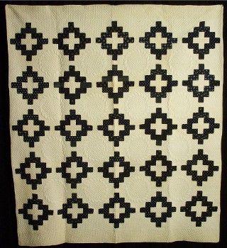 "Beautiful ""Chimney Sweep"" antique quilt (c.1870)."