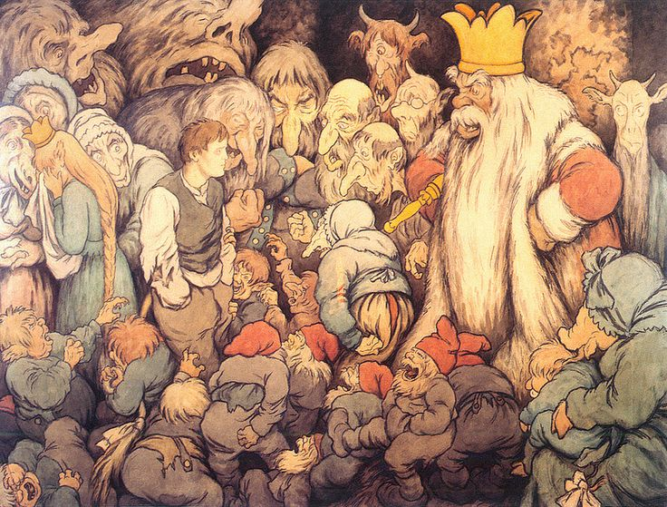 Theodor Kittelsen - Per Gynt in the Hall of the Mountain King, 1913