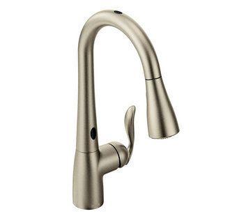 Moen 7594esrs Spot Resist Stainless Single Handle Kitchen Faucet